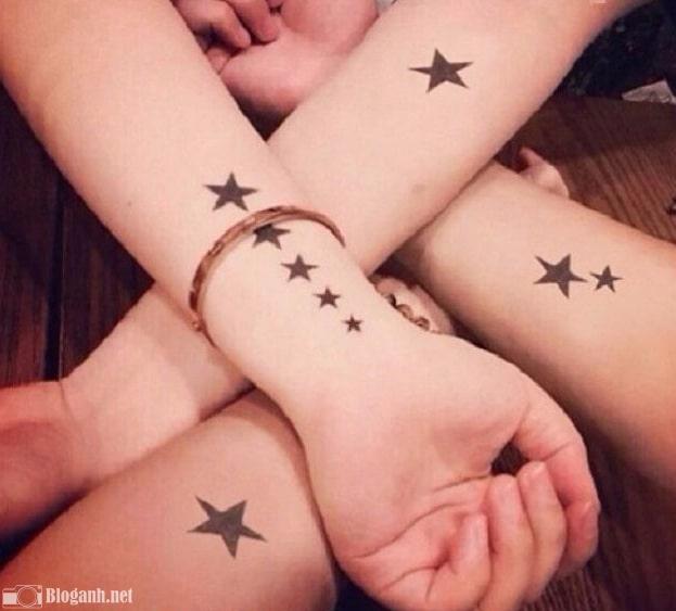 hình xăm năm cánh đẹp cho nữ, hình xăm sao năm cánh cho nữ