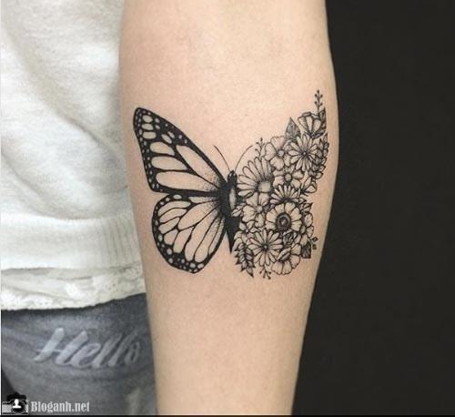 hình xăm bướm đẹp, hình xăm bướm ấn tượng