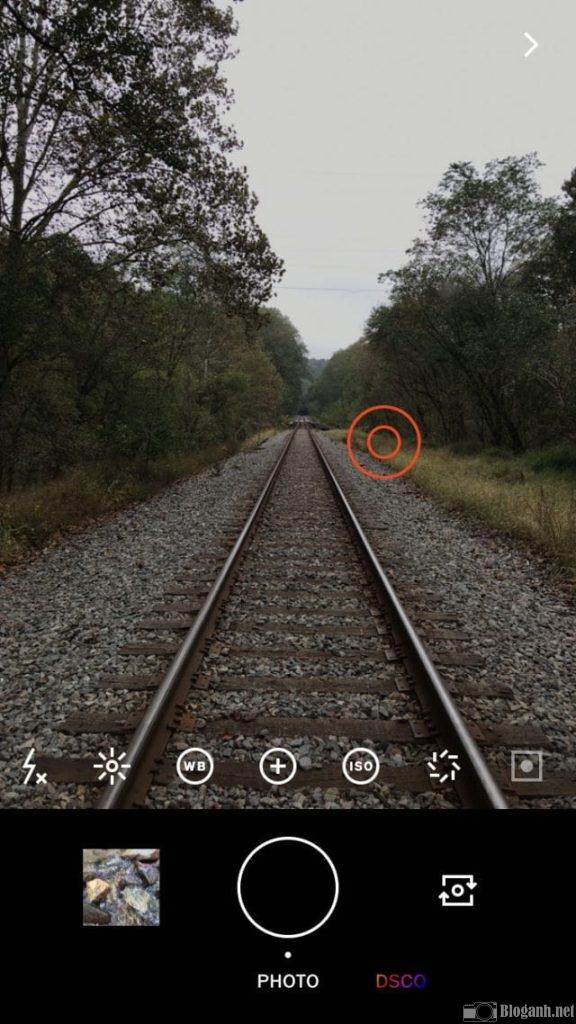 cách chụp ảnh trên VSCO, cách đo nét VSCO, lấy nét trên camera của VSCO