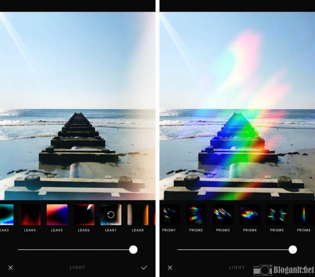 hiệu ứng ánh sáng trên afterlight, hiệu ứng ảnh sáng ảnh film