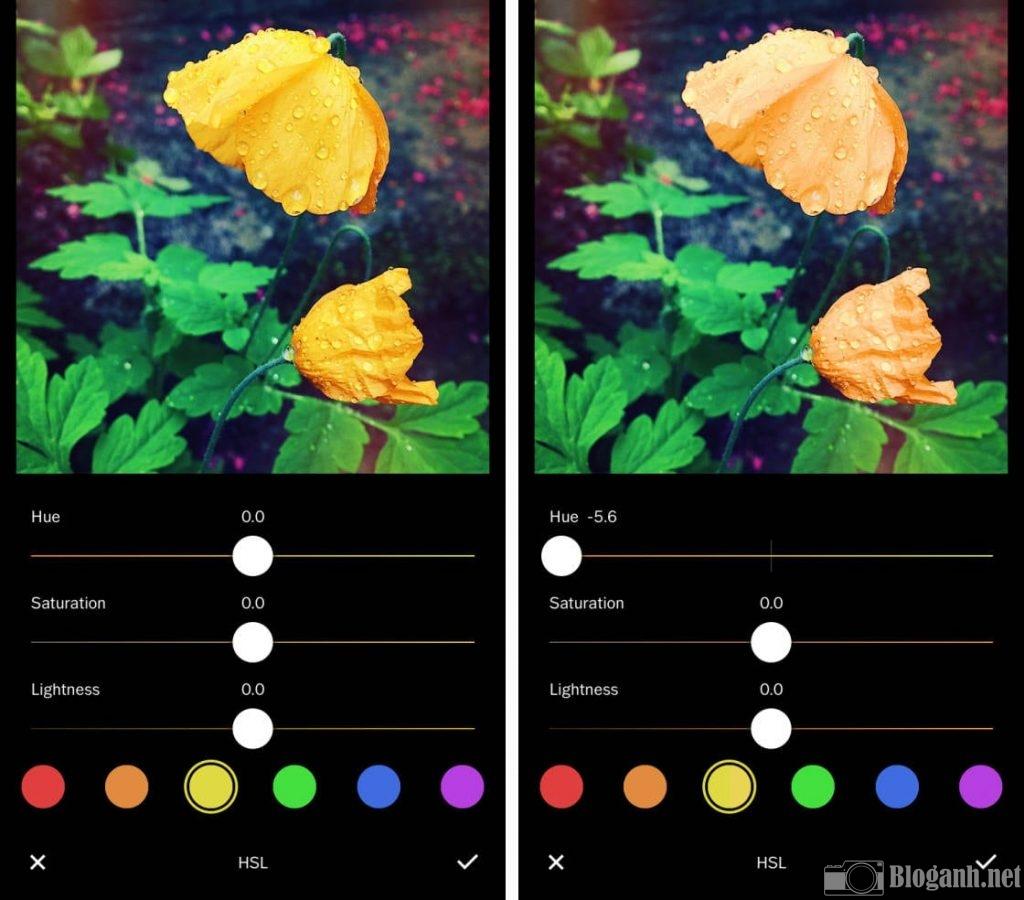 cách chỉnh màu sắc trên VSCO, chỉnh màu trên VSCO