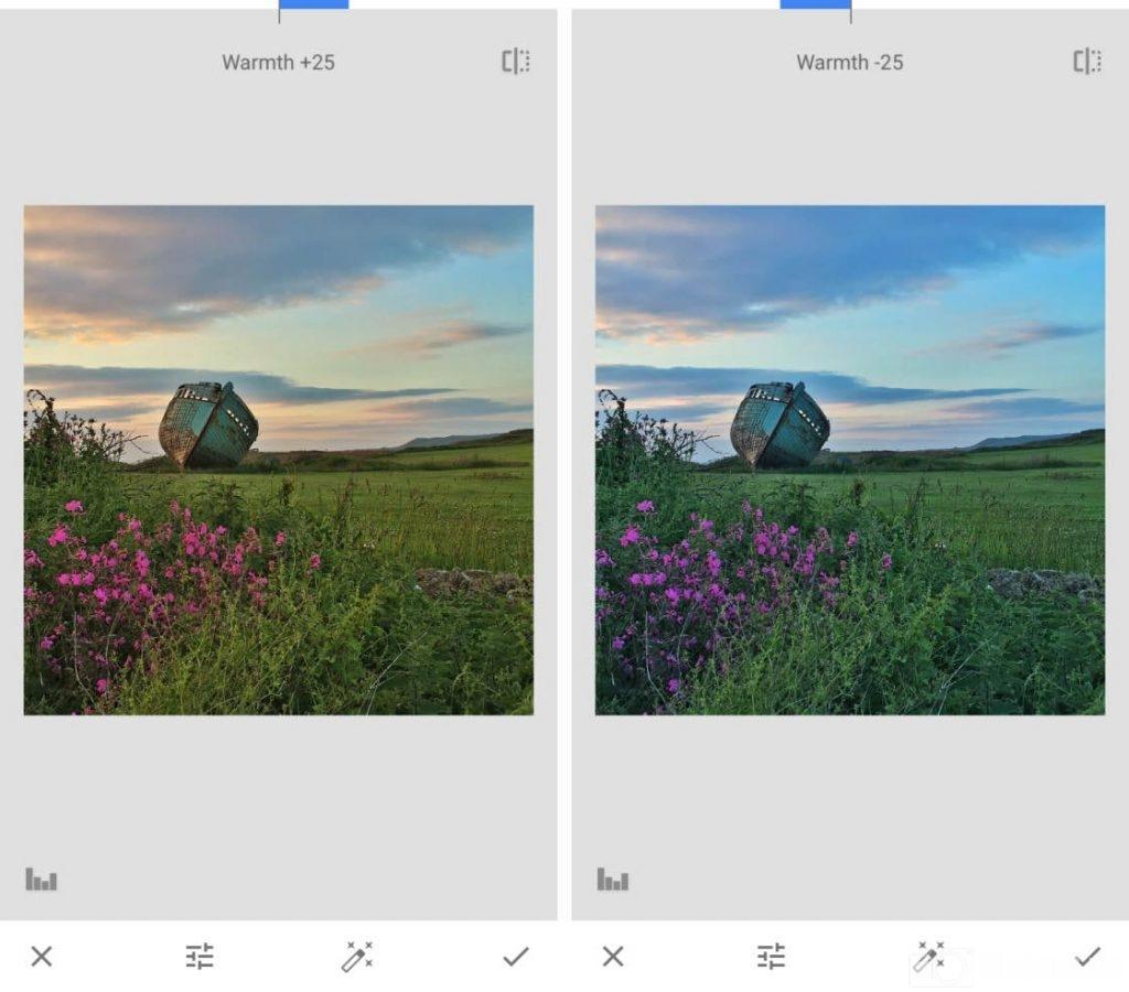 chỉnh màu sắc trên Snapseed, cách chỉnh ảnh trên Snapseed