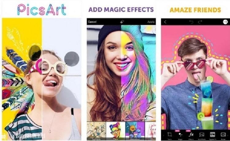 hiệu ứng mặt nạ, cách chỉnh ảnh trên PicsArt