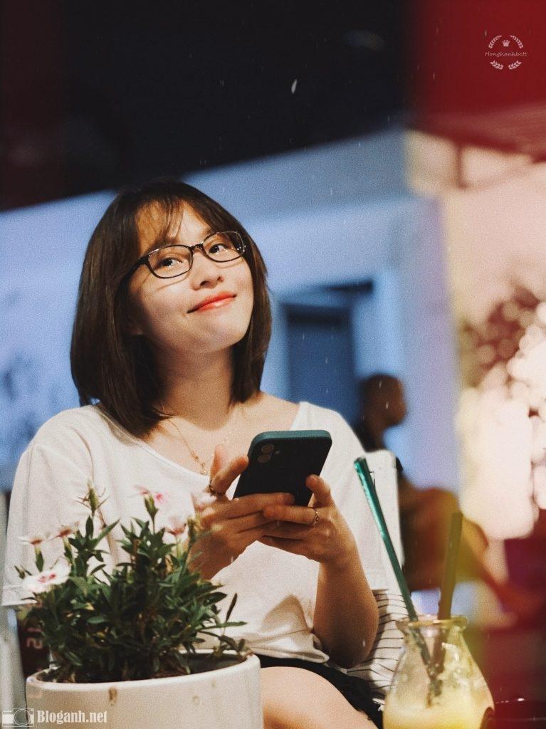 cô gái, điện thoại, kính, bộ lọc màu