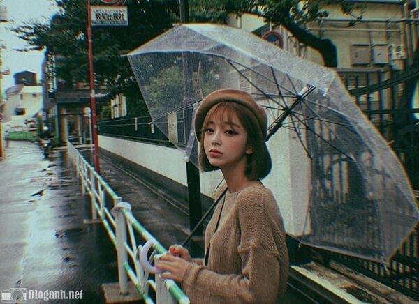 ảnh đẹp, cô gái, mưa