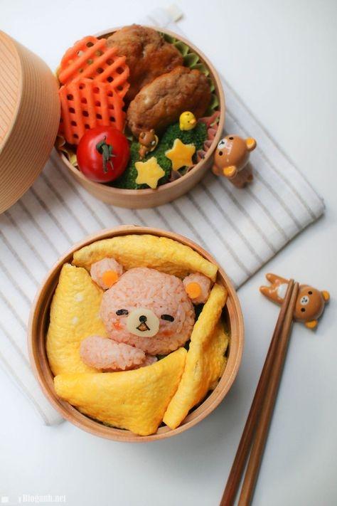 cơm cuộn, mặt gấu, foodie