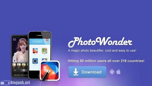 chỉnh ảnh, giao diện, photo wonder